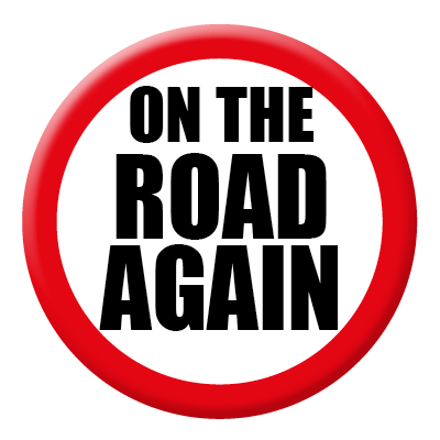 On The Road Again Sign 400x400